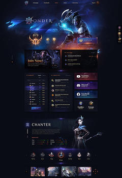 Aion Wonder Game server Website Template