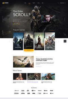 Gamer Studio Website Template