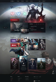 Tanatos Lineage 2 Game Website Template