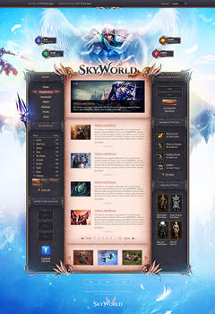 Mu Online SkyWorld Game Website Template