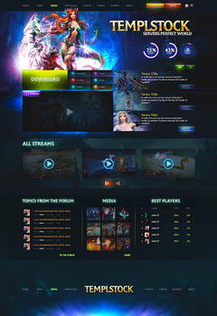 Perfect World Dark Game Website Template