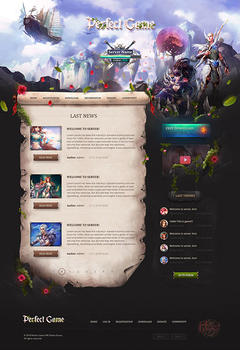 Perfect World Game Website Template