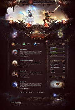 Excalibur Sword Game Website Template